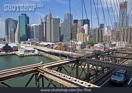 Skyline, Brooklyn Bridge, New York City
