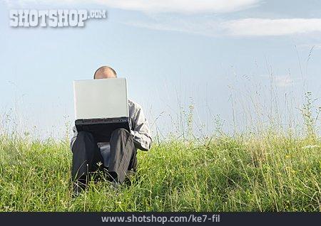 Man, Laptop, Independent