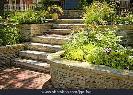 Staircase, Rock Garden, Landscape Gardening