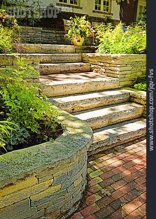 Garden, Staircase, Rock Garden