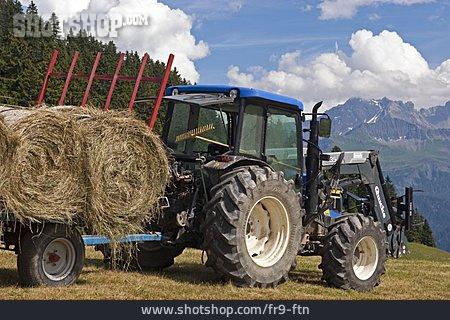 Tractor, Horse Cart