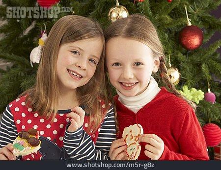 Girl, Sweets, Christmas Cookies