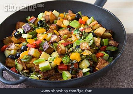 Vegetable Pan, Mediterranean Cuisine, Meal