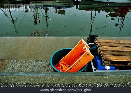 Reflection, Canal, Fish Box