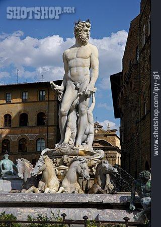 Statue, Florence, Fontana Del Nettuno