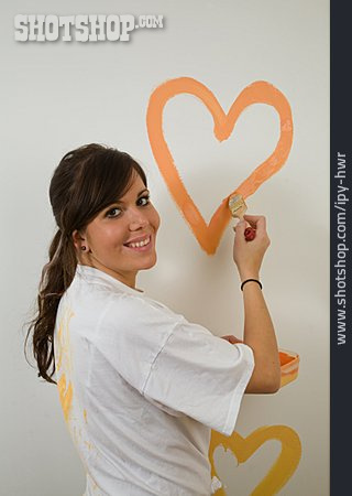 Young Woman, Heart, Redecoration