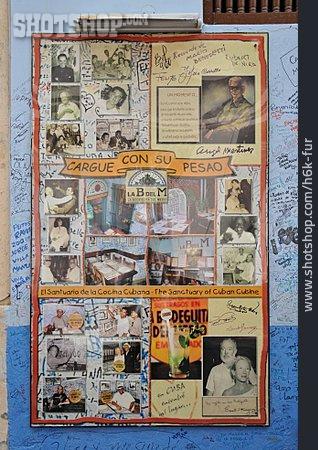 Shield, Bar Counter, Havana, La Bodeguita Del Medio