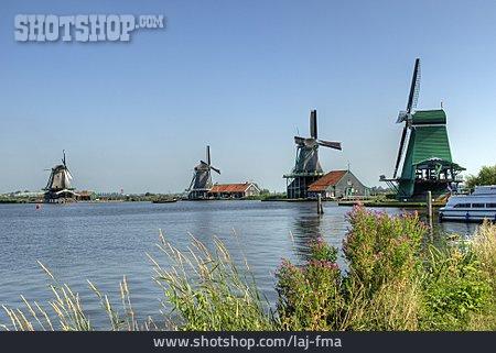Windmill, Holland, Zaanse-schans