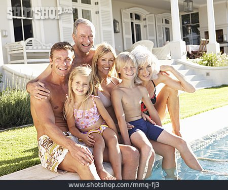 Summer, Swimming Pool, Family