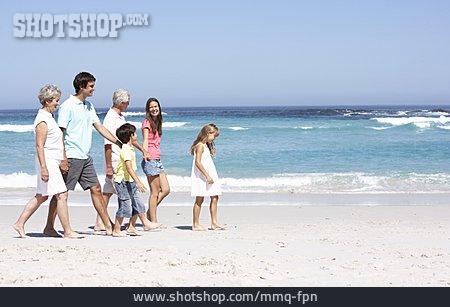 Beach Walking, Family, Family Vacations