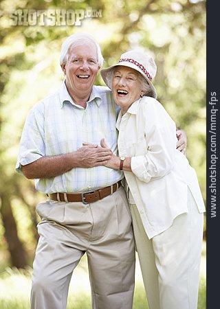 Embracing, Couple, Older Couple