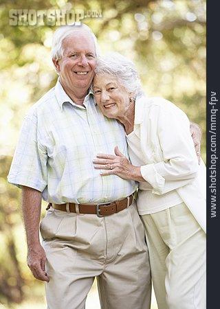 Couple, Stroll, Older Couple