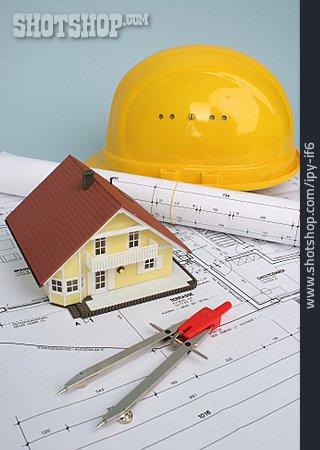 Building Construction, Blueprint, Planning Office