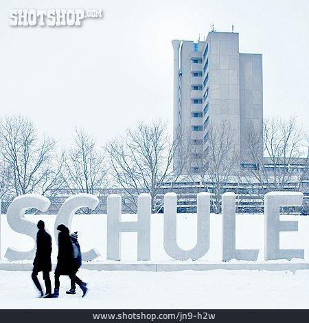Winter, School, Social Issues, Education