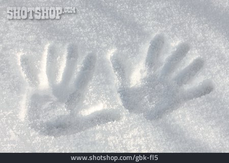 Snow Track, Hand Print