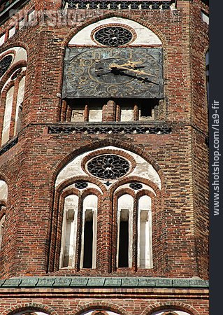 Greifswald, Church Clock, Cathedral St Nikolai