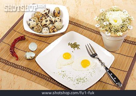 Breakfast, Quail, Fried Egg