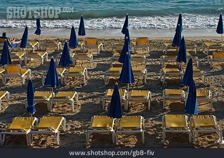 Beach, Sea, Deck Chair