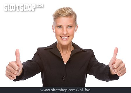 Young Woman, Woman, Business Woman, Career, Thumbs Up