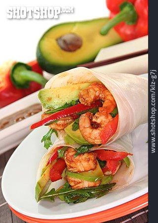 Asian Cuisine, Snack, Wrap
