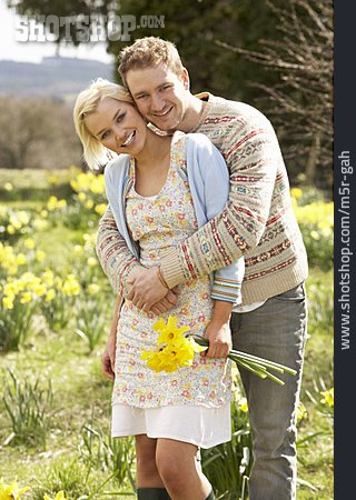 Embracing, Love Couple, Spring Fever