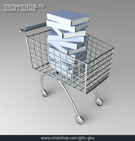 Purchase & Shopping, Shopping Cart, Stacking Books