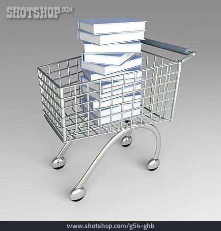 Purchase & Shopping, Shopping Cart, Stacking Books
