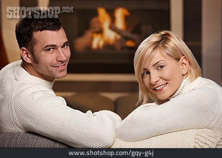 Couple, Domestic Life, Relationship, Living Room