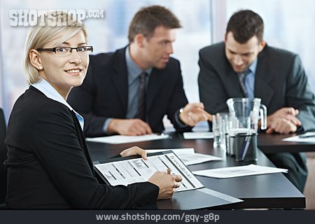 Business Woman, Meeting, Annual Report