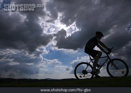 Silhouette, Cyclists