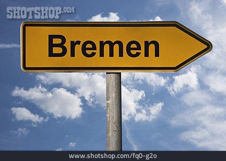 Traffic Sign, Footpath Sign, Hanseatic City, Bremen