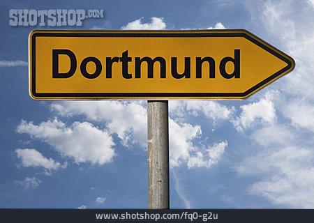 Traffic Sign, Footpath Sign, Dortmund