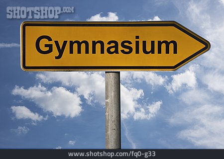 Shield, Footpath Sign, Gymnasium