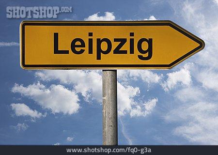 Traffic Sign, Leipzig, Footpath Sign