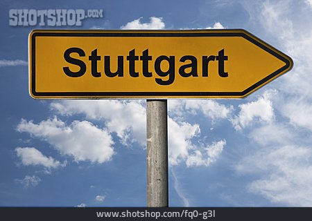 Traffic Sign, Footpath Sign, Stuttgart