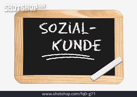 School Subject, Social Customer, Social Pedagogy