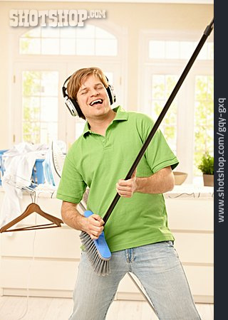 Young Man, Man, Listening To Music, Air, Silly