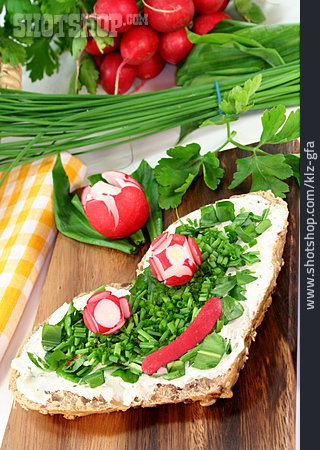 Healthy Diet, Chive, Bun, Sandwich, Culinary Herbs