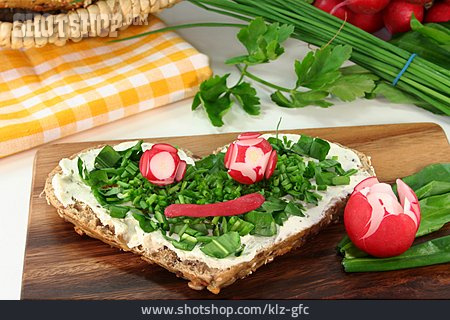 Healthy Diet, Radish, Chive, Sandwich, Culinary Herbs
