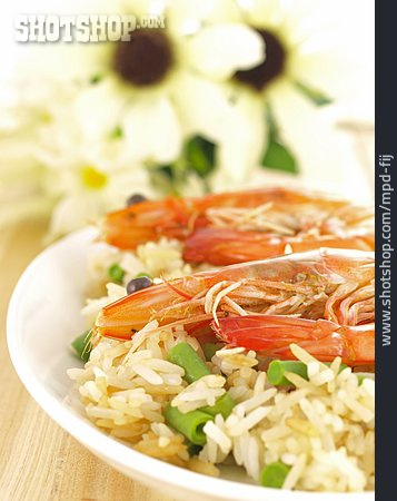 Asian Cuisine, Shrimp, Dish