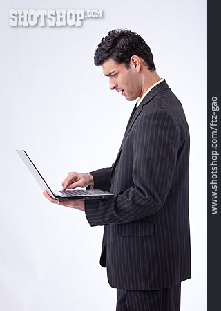 Young Man, Businessman, Laptop