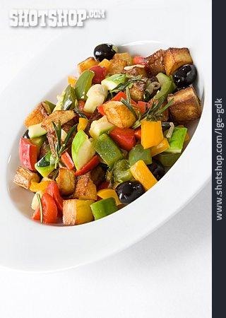 Vegetable Pan, Mediterranean Cuisine