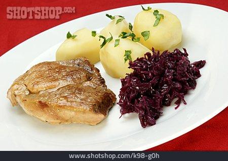Roast Pork, Meat Dish, Dish
