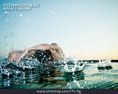 Swim, Immersion, Water Splashes