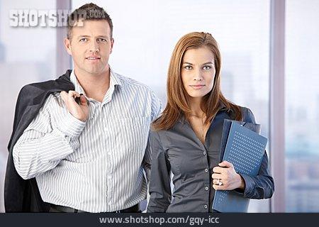 Business Woman, Businessman, Colleagues