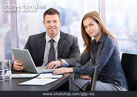 Business Woman, Businessman, Teamwork