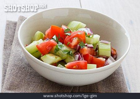 Salad, Tomato, Cucumber