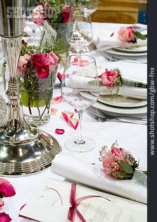 Table Decoration, Table Cover, Banquet, Wedding Table
