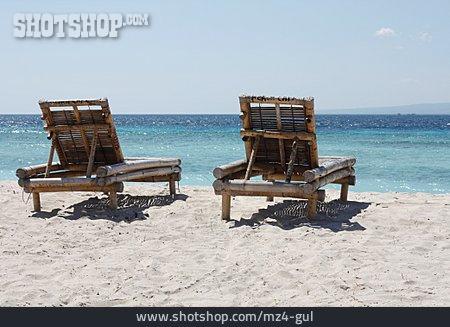 Beach, Sea, Beach Lounger
