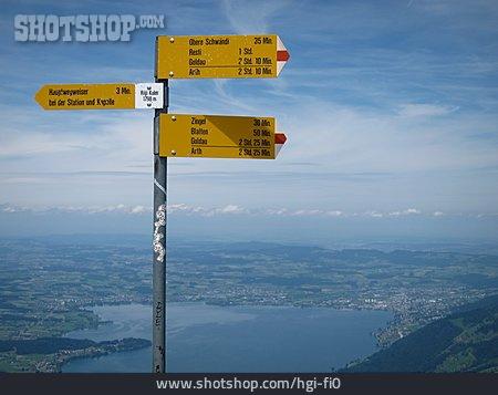Width, Footpath Sign, Switzerland